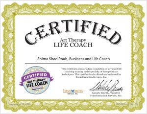 art therapy life coach certificate shima shad rouh