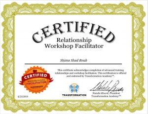 relationship coaching certificate shima shad rouh