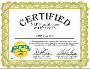 Shima Shad Rouh NLP life coach certificate
