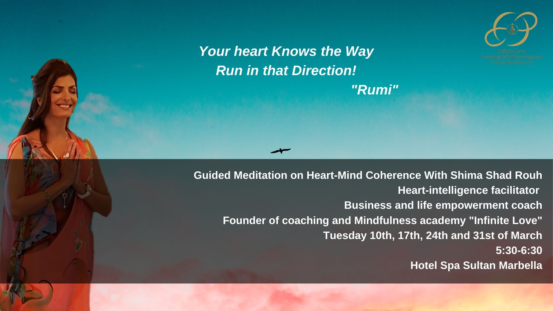 heart coherence with shima shad rouh Marbella Spain